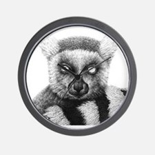 Ring-tailed Lemur (Throw pillow) Wall Clock