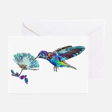 NEON HUMMINGBIRD Greeting Cards (Pk of 10)