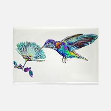 NEON HUMMINGBIRD Rectangle Magnet