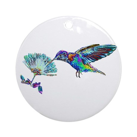 NEON HUMMINGBIRD Ornament (Round)