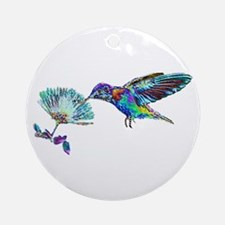NEON HUMMINGBIRD Ornament (Round)