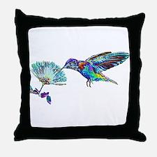 NEON HUMMINGBIRD Throw Pillow