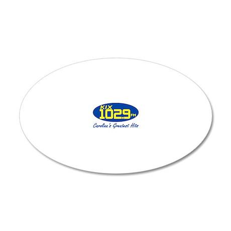 WKIX-FM.eps 20x12 Oval Wall Decal