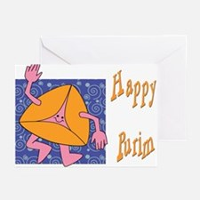 Happy Purim Greeting Cards (Pk of 10)