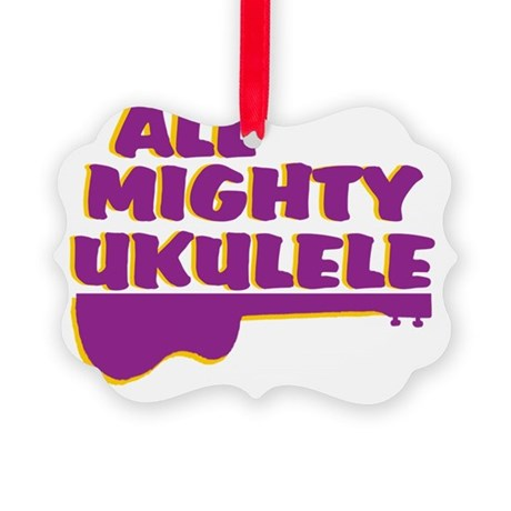 funny ukulele ukuleles uke ukes Picture Ornament