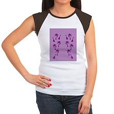 purple hawaiian ukulele Women's Cap Sleeve T-Shirt