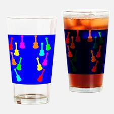 rainbow ukuleles and ukes on flip f Drinking Glass