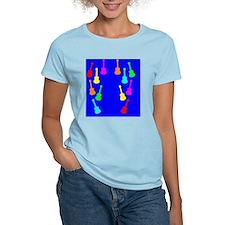 rainbow ukuleles and ukes on T-Shirt