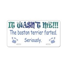 BostonTerrier Aluminum License Plate