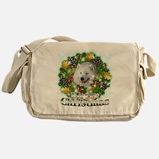 Merry Christmas Samoyed Messenger Bag