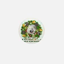 Merry Christmas Samoyed Mini Button