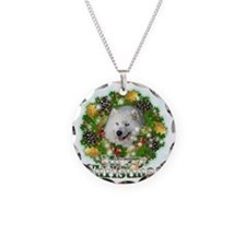 Merry Christmas Samoyed Necklace