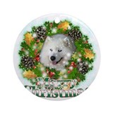 Samoyed christmas Round Ornaments
