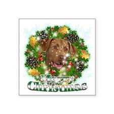 "Merry Christmas Chesapeake  Square Sticker 3"" x 3"""