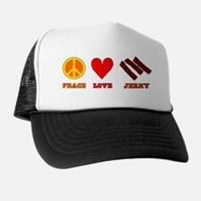 Peace Love Jerky Trucker Hat