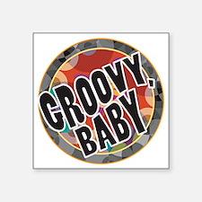 "Groovy Baby Square Sticker 3"" x 3"""