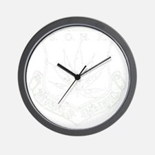 SOHK Weed White Distressed Wall Clock