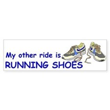 Running Bumper Bumper Sticker