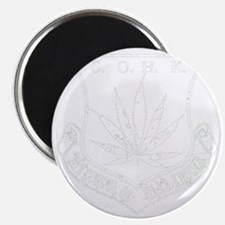 SOHK Weed White Distressed Magnet