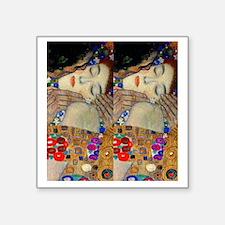 """Klimt Kiss FF Square Sticker 3"""" x 3"""""""