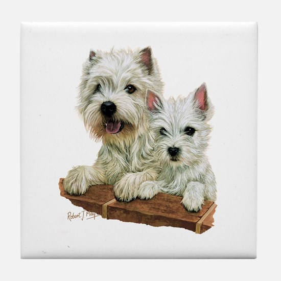 West Highland White Terrier Tile Coaster