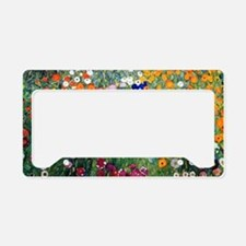 Klimt Flowers Beach License Plate Holder