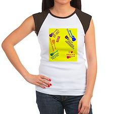 funny ukulele player fl Women's Cap Sleeve T-Shirt