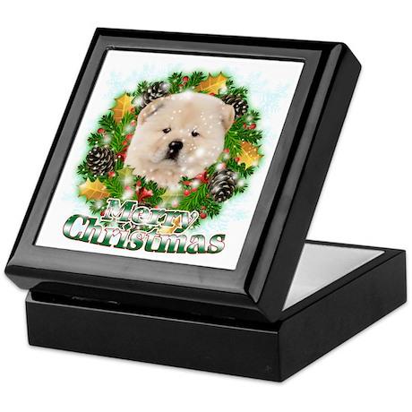 Merry Christmas Chow Chow Keepsake Box