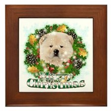 Merry Christmas Chow Chow Framed Tile