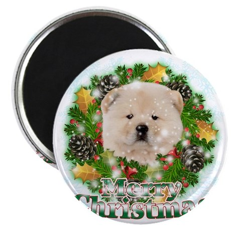 Merry Christmas Chow Chow Magnet