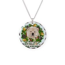 Merry Christmas Chow Chow Necklace