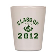 CO2012 SOHK Weed Green Distressed Shot Glass
