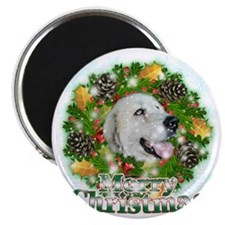 Merry Christmas Great Pyrenees Magnet