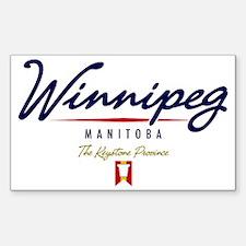 Winnipeg Script W Sticker (Rectangle)