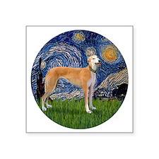 "R-Starry-Greyhound (M-stand Square Sticker 3"" x 3"""