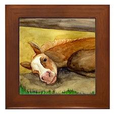 Palomino Quarter Horse Foal Framed Tile