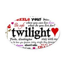 TwiTerms Clutch Oval Car Magnet