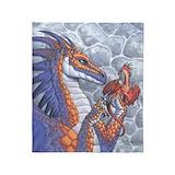 Dragon fantasy science fiction Fleece Blankets