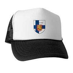 Suomi Flag Crest Shield Trucker Hat