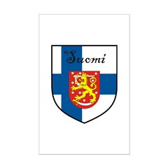 Suomi Flag Crest Shield Posters