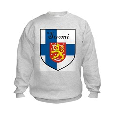 Suomi Flag Crest Shield Sweatshirt