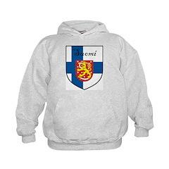 Suomi Flag Crest Shield Hoodie