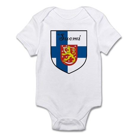 Suomi Flag Crest Shield Infant Bodysuit