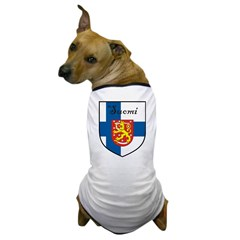 Suomi Flag Crest Shield Dog T-Shirt