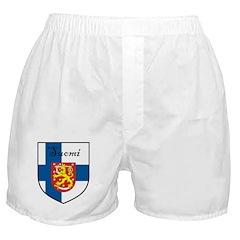 Suomi Flag Crest Shield Boxer Shorts