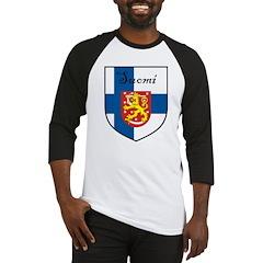Suomi Flag Crest Shield Baseball Jersey