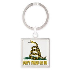 dont thread on me Square Keychain