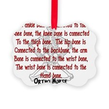 Ortho Nurse Knee bone connected t Ornament