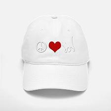 Peace Love Cats Dark Baseball Baseball Cap
