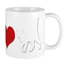Peace Love Cats Dark Mug